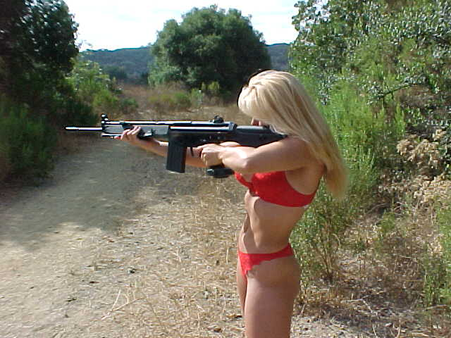 Hot girls shooting guns - YouTube